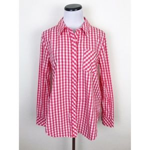 Vineyard Vines Gingham Plaid Relaxed Button Down